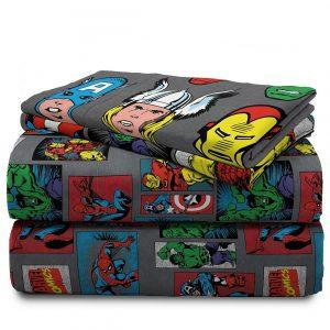 Sabanas Superheroe De Marvel  Para Niños