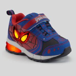 Zapatillas Hombre Araña Con Luces Para Niños